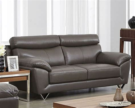 Moderne Sofas by Modern Leather Sofa In Grey Color Esf8049s