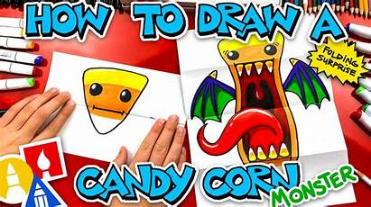 Draw Monster Corn Candy Folding Surprise