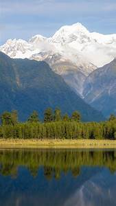 Mount, Tasman, And, Aoraki, Mount, Cook, Reflected, In, Lake