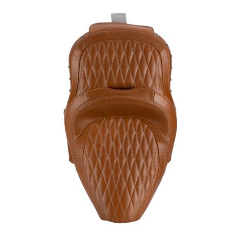 leather extended reach heated seat desert tan