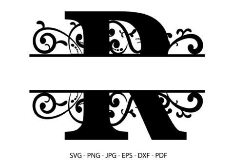alphabet split font monogram graphic graphic  redcreations creative fabrica