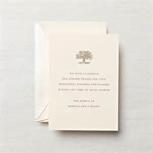 funeral invitation wording personalized letterpress sympathy acknowledgement card