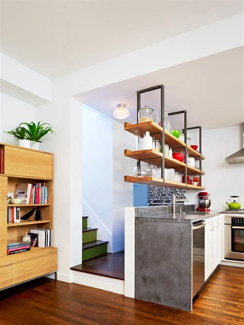 kitchen floor plans with island the benefits of open shelving in the kitchen hgtv 39 s