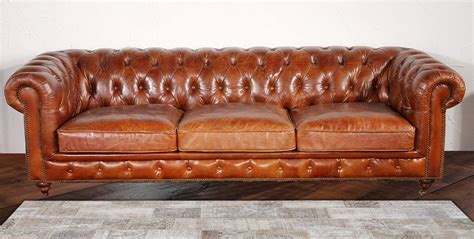 Leather Chesterfield Loveseat by Pasargad Chester Bay Tufted Genuine Leather Chesterfield