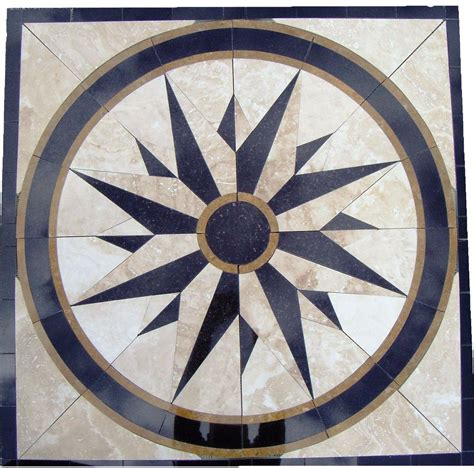 floor medallion designs tile floor medallion marble mosaic north star design 34 quot amazon com home ideas pinterest