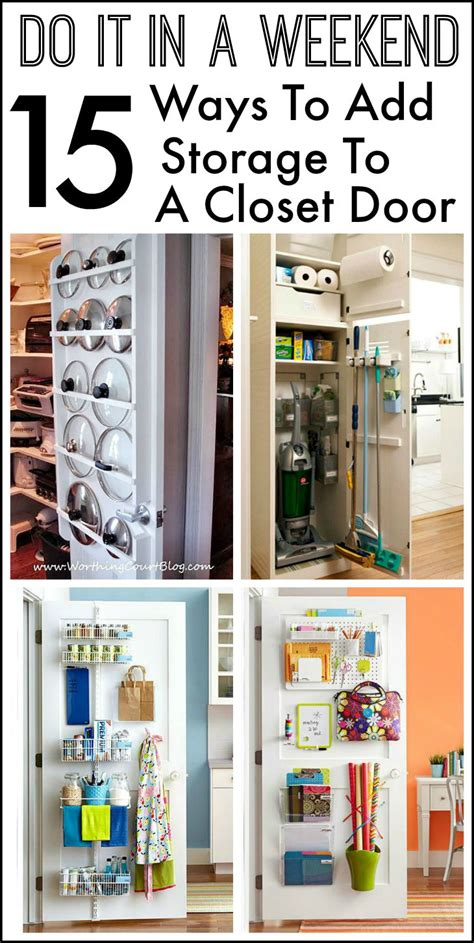 diy curtain 15 ways to use the back of a closet door for storage and