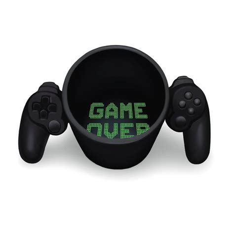 Game Over Mug Ceramic Video Game Controller Tea And Coffee