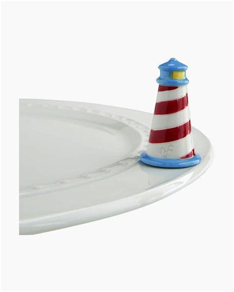nora fleming mini lighthouse platter ornament  paper