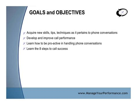 Call Center Objectives by Call Center Performance Workbook