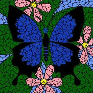 Butterfly blue mosaic | Stain glass | Pinterest