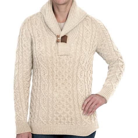 merino wool sweater womens peregrine by j g aran shawl sweater for
