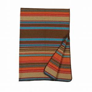 Tombstone Striped Throw Blanket [red, orange, teal blue]