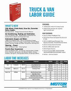 Motor Truck  U0026 Van Labor Time Guide