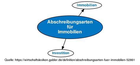 lineare abschreibung immobilien abschreibungsarten f 252 r immobilien definition gabler wirtschaftslexikon
