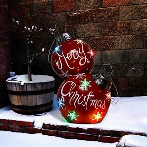 30, U0026quot, Merry, Christmas, Ornament, With, Color, Changing, Led, Lights