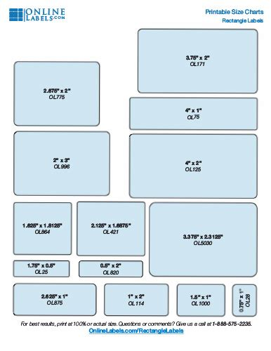 find   label size   project