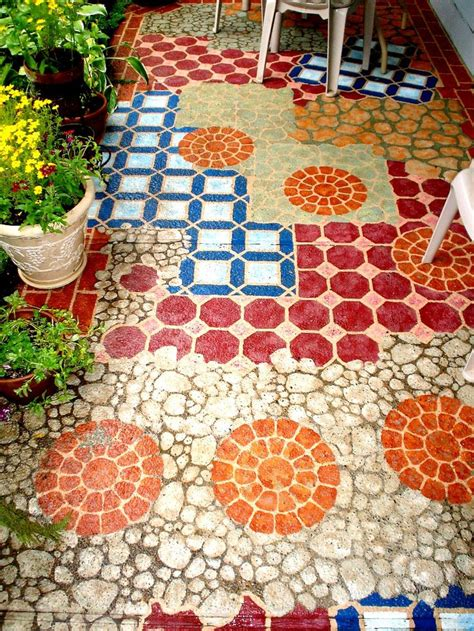 patio floor painting ideas best 25 painted concrete patios ideas on