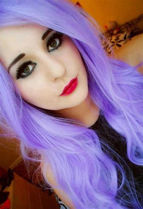12 Best Blackwhite And Purple Hair Images On Pinterest