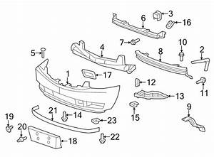 2007 Cadillac Escalade Front Bumper Parts Diagram