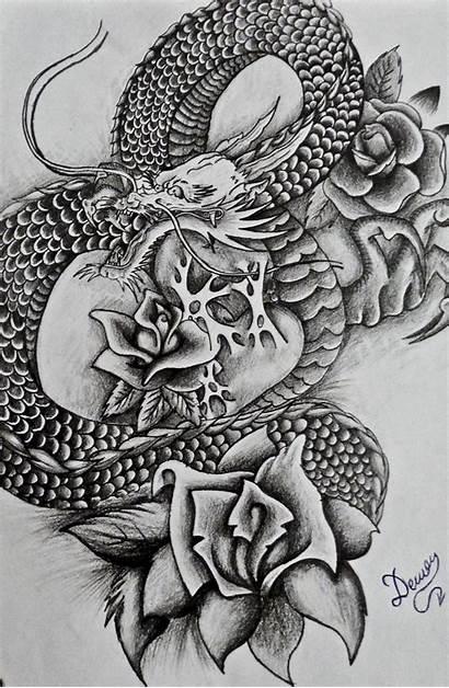 Dragon Japanese Tattoos Tattoo Designs Head Simple
