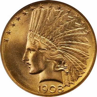 Indian Head Value 1908 Coins Gold Sold