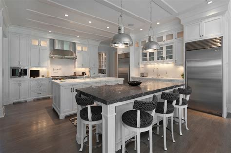 kitchen and countertops kitchen with 2 islands transitional kitchen blue