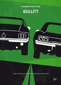 No214 My Bullitt Minimal Movie Poster Digital Art by ...