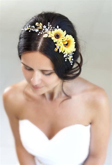 sunflower flower crown sunflower headband yellow flower