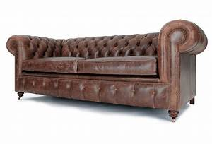 historian vintage leather 3 seater chesterfield sofa bed With chester sofa bed