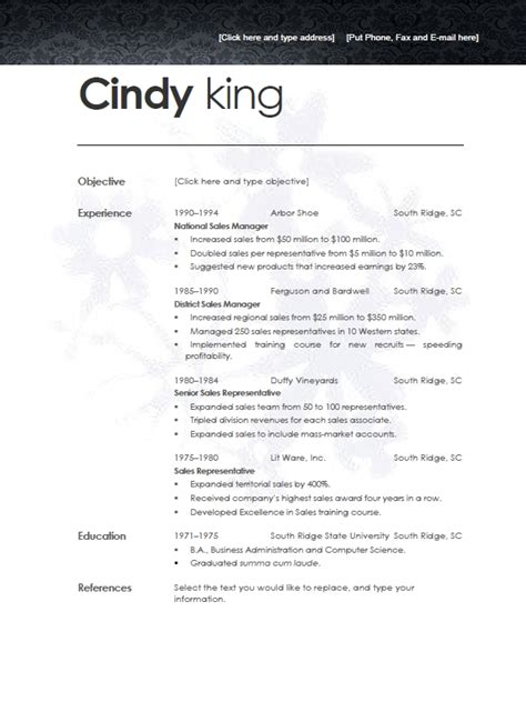 modern resume format learnhowtoloseweight net