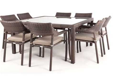 chaises exterieur nico square glass top patio dining table for 8 ogni