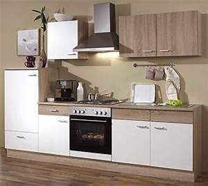 Küche Mit Herd : k chenzeile 270 cm komplett k che mit k hlschrank herd ~ Lizthompson.info Haus und Dekorationen
