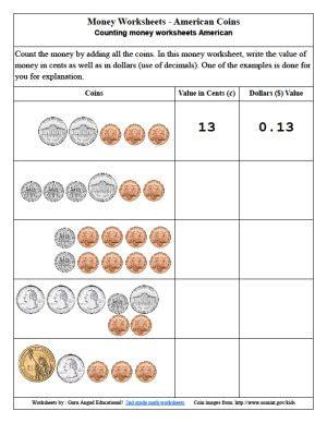 money worksheet  kindergarten math schematic