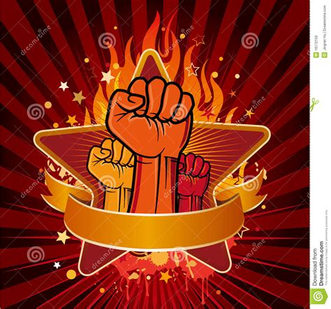 revolution fist royalty  stock images image