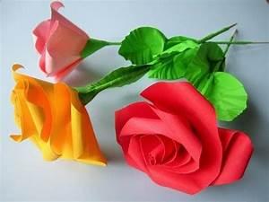 Servietten Rose Falten : papierrosen selber falten d i y paper roses youtube ~ Eleganceandgraceweddings.com Haus und Dekorationen