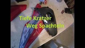 Tiefe Kratzer Im Holz Entfernen : tiefe kratzer und schrammen bei gfk etc entfernen reparieren youtube ~ Buech-reservation.com Haus und Dekorationen
