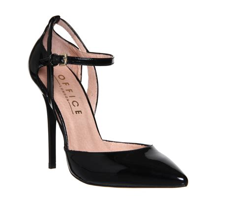 black master shoes 2 office ankle detail point court black patent