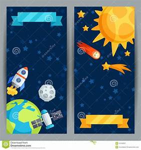 Vertical Banners With Solar System And Planets Stock ...