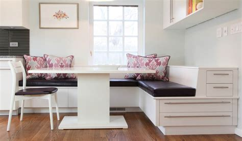 banquette seating design  compact  fashionable