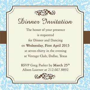 Fab Dinner Party Invitation Wording Examples You Can Use ...