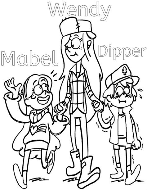 Anime Gravity Falls Coloring Pages