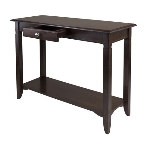 console table with drawers winsome nolan console table with drawer
