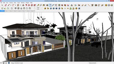 gambar rumah file sketchup