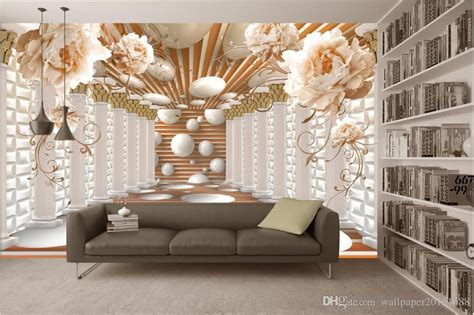 roman column art flower flower wall background wall murals