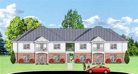 plan dc  unit apartment house plan family house plans apartments exterior house plans