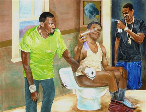 This Is A Satirical Portrait Of Hip Hop Artists Jayz And