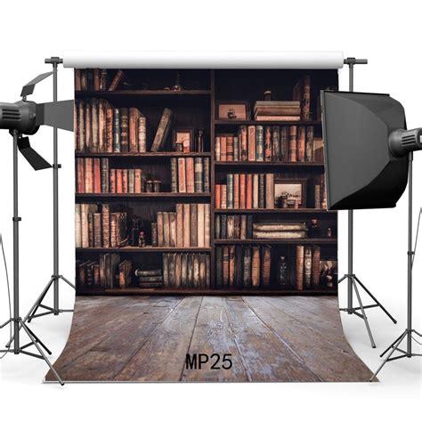 5 Ft Bookshelf by Hellodecor Polyester 5x7ft Bookshelf Backdrop Vintage