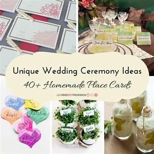 unique wedding ceremony ideas 40 homemade place cards With wedding place cards ideas homemade
