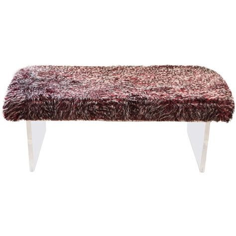 faux fur bench 1960 s faux fur bench