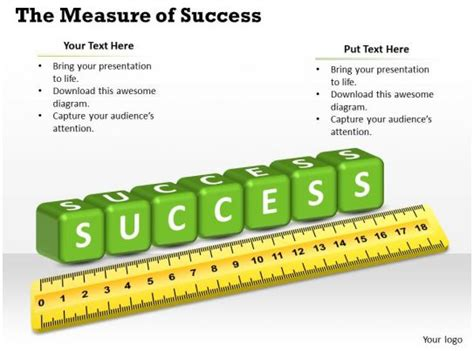 measuring success powerpoint template  powerpoint